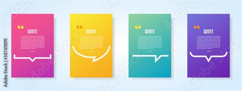 Fotografie, Obraz Quote speech bubble blank templates set.