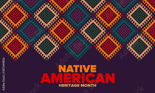Canvas Print Native American Heritage Month in November