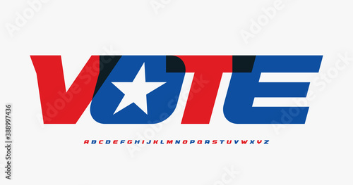 Photo Alphabet for presedential vote poster,banner,flyer,advertisement