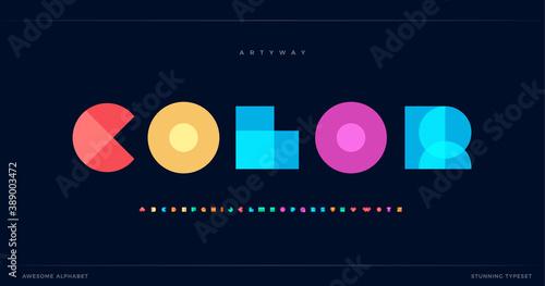 Obraz na płótnie Overlay colorful alphabet