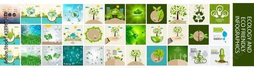 Obraz na płótnie Ecology infographics