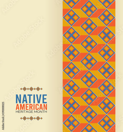 Canvas Print vector graphic of native american heritage month good for native american heritage month celebration