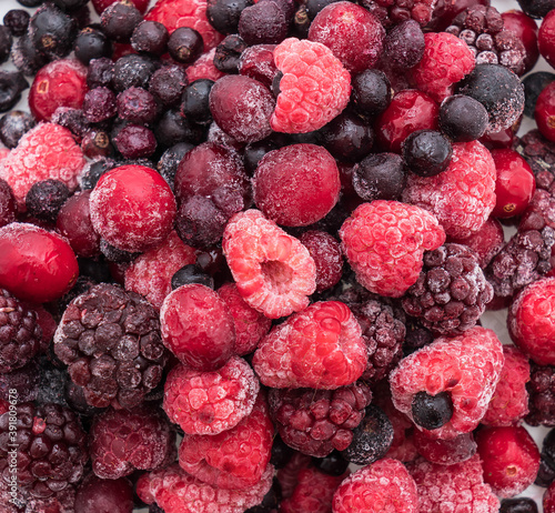 Canvas Print frozen mixed berry