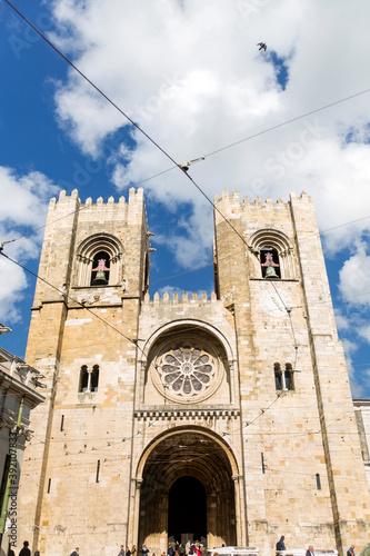 Catedral de Santa Maria Maior, Santa Maria la Mayor o Se de la ciudad de Lisboa, pais de Portugal Fototapete