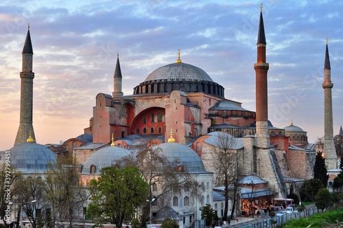 Obraz na plátně View of Hagia Sophia in Istanbul, Turkey.