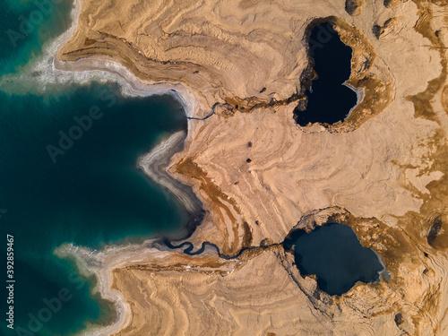 Fototapeta Sinkhole monster - dead sea