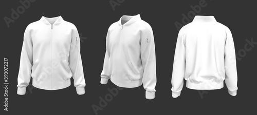 Vászonkép Bomber jacket mockup, design presentation for print, 3d illustration, 3d renderi