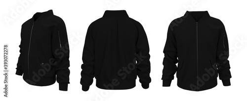 Fotografia Bomber jacket mockup, design presentation for print, 3d illustration, 3d renderi