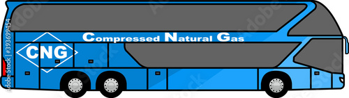 Canvastavla Double decker Tourist bus - bus - CNG -  compressed natural gas - Tourist - clea