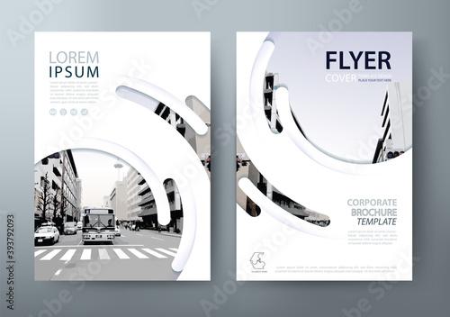 Fotografia Annual report brochure flyer design template vector, Leaflet cover presentation, book cover