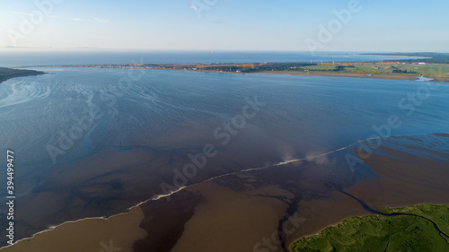 Canvas Print Findhorn Basin Overview including views of Findhorn and Burghead
