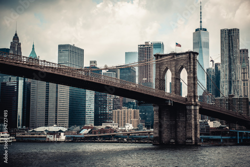 Canvas Print Brooklyn Bridge New York