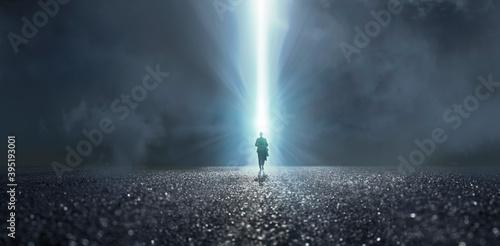 Carta da parati The door of light to another space.