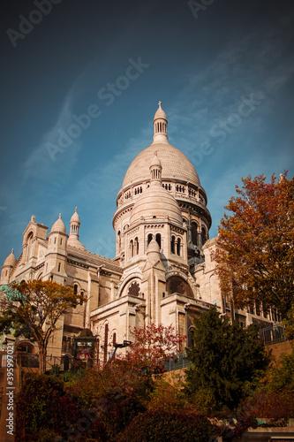 Canvas Print Sacre Coeur in Autumn
