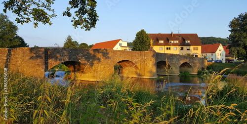 Tauberbrücke von Balthasar Neumann in Tauberrettersheim Fototapeta