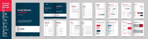 Fotografiet Brand Manual Template, Simple style and modern layout Brand Style , Brand Book,