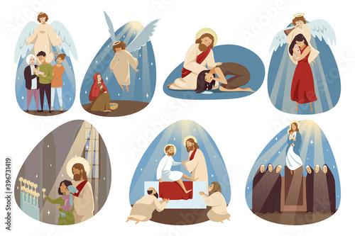 Canvas Print Religion, bible, christianity set concept