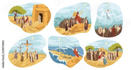 Canvas Print Religion, christianity, Bible set concept