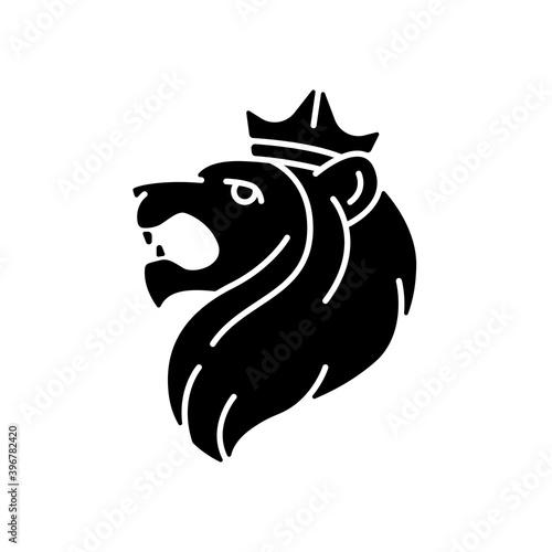 Wallpaper Mural Judah Lion black glyph icon