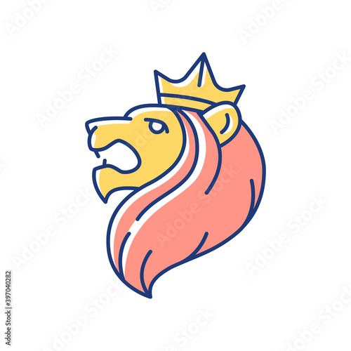 Photo Judah Lion RGB color icon