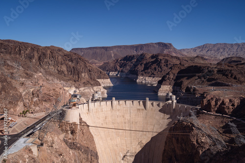 Canvas Print hoover dam lake mead