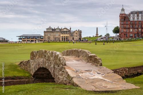 Canvas Print Swilcan Bridge St Andrews Golf Course