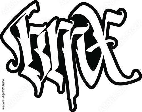 Creative  graphic , grange print stamp, bmx, freestyle, typography, emblem, sports logo, Vector Fototapeta