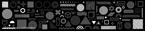 Obraz na plátne Set of 100 geometric shapes