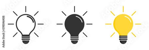 Fotografering Light bulb icon