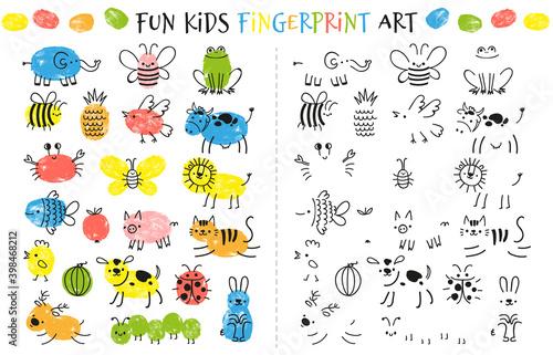Fingerprint game for kids Fototapet