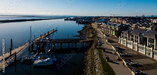 Stampa su Tela Steveston aerial panorama - Richmond, BC Canada