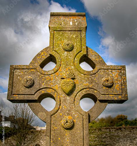 Fotografia, Obraz Celtic Cross in Ireland