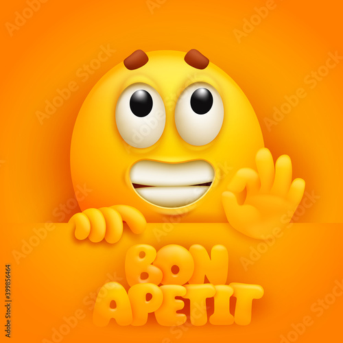 Fototapeta Bon apetit sticker card