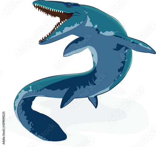 Платно Vector design illustration of mosasaur