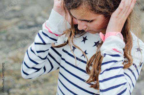 Obraz na płótnie portrait d'une jeune fille douce.