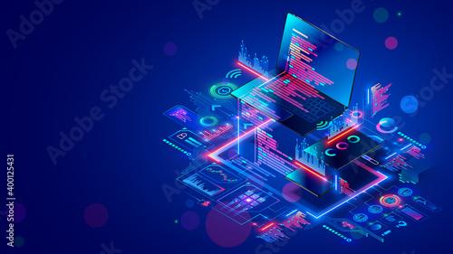 Obraz na plátně Software development for different devices