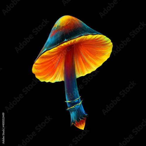 Valokuva Digital painted mushroom
