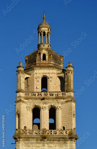 Fotografia Loches; France - july 15 2020 : Saint Antoine tower