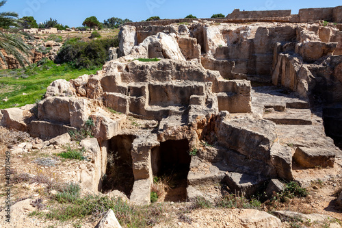 Obraz na plátne Tombs of the Kings near  Paphos Cyprus a 4th century BC necropolis, of burial ch