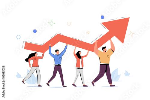 Canvastavla Progress development as success improvement and growth tiny person concept