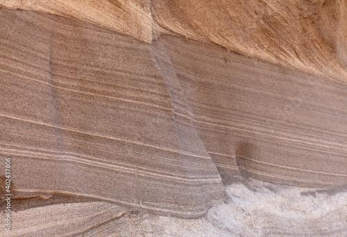 Carta da parati Gran Canaria, amazing sand stone erosion figures in ravines on Punta de las Aren