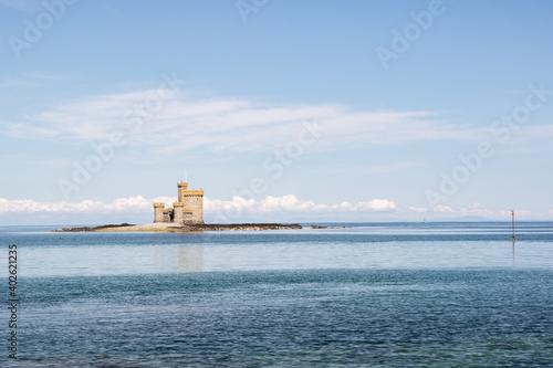 Stampa su Tela Castle On island in Ramsey Isle Of man