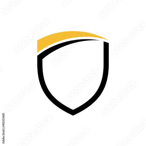 Slika na platnu Simple shield flat logo template. Shielding vector icon