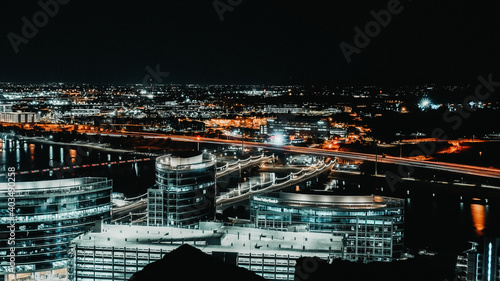 Canvas Print Long Exposure Captured in Downtown Tempe, Arizona