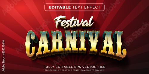 Editable text effect in carnival circus style Fototapete