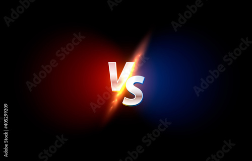Fotografía Versus game cover, banner sport vs, team concept.