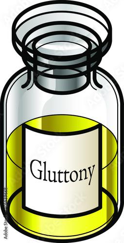 Stampa su Tela A reagent bottle of Gluttony