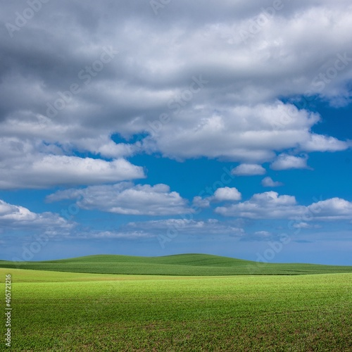 Canvas Print Scenic View Of Agricultural Field Against Sky