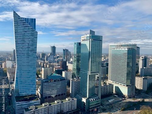 Photo Modern Buildings In City Against Sky