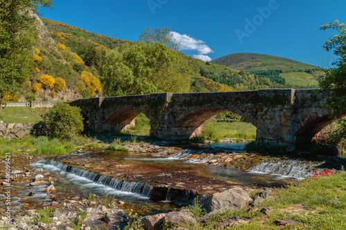 Oja river in Ezcaray village (La Rioja, Spain)